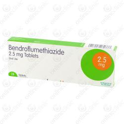 Bendroflumethiazide 2.5mg x 168
